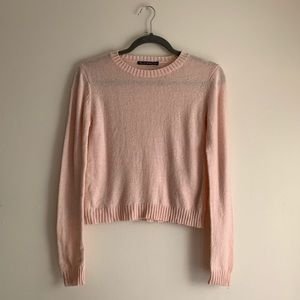 Brandy Melville • Wool Blend Crop Crewneck Sweater